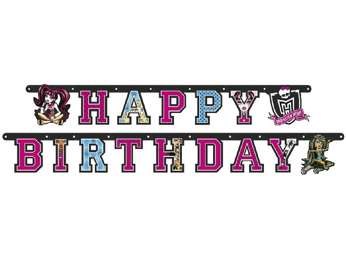 "Monster High Guirlande ""Happy Birthday"""