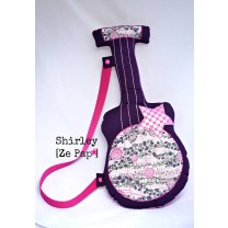 Guitare prune et rose