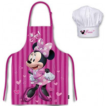 Minnie Mouse de Disney Tablier et sa charlotte assortie