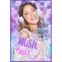 Violetta Plaid polaire Love Music